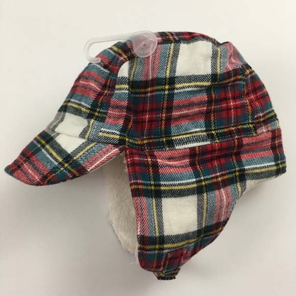 d67ba071354 Baby Gap plaid trapper hat with ear flaps 0-6 mo
